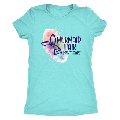 Mermaid Hair, Don't Care • Women's Tees and Tank Tops T-shirt teelaunch DriFit Tee Tahiti Blue S
