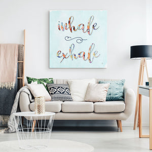 INHALE EXHALE Zen Wall Art Aesthetic Room Decor