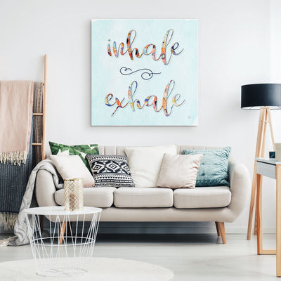 INHALE EXHALE Wall Canvas Canvas Wall Art 2 teelaunch
