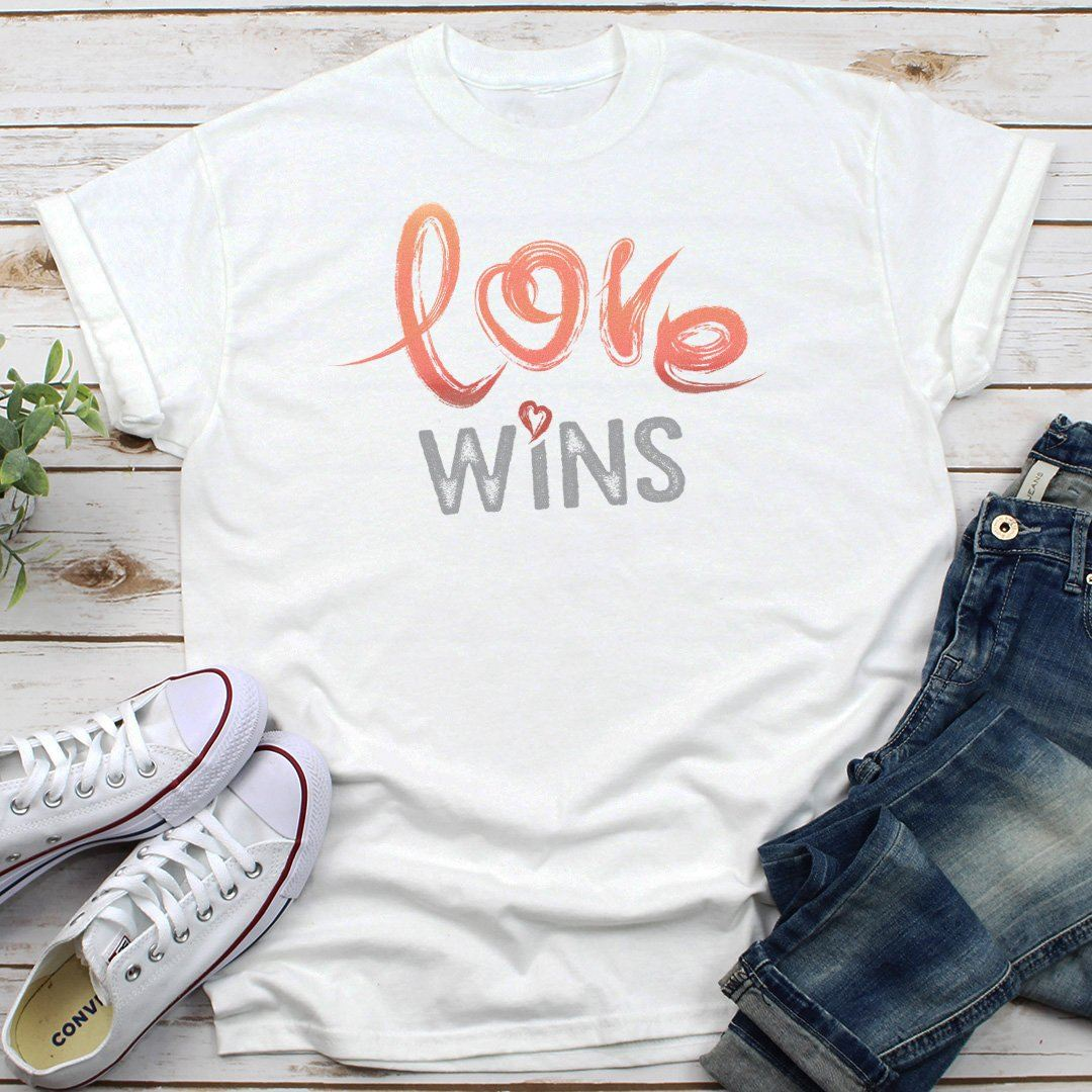 Love Wins • Women's Tees & Tank Tops T-shirt teelaunch Cotton Tee White S