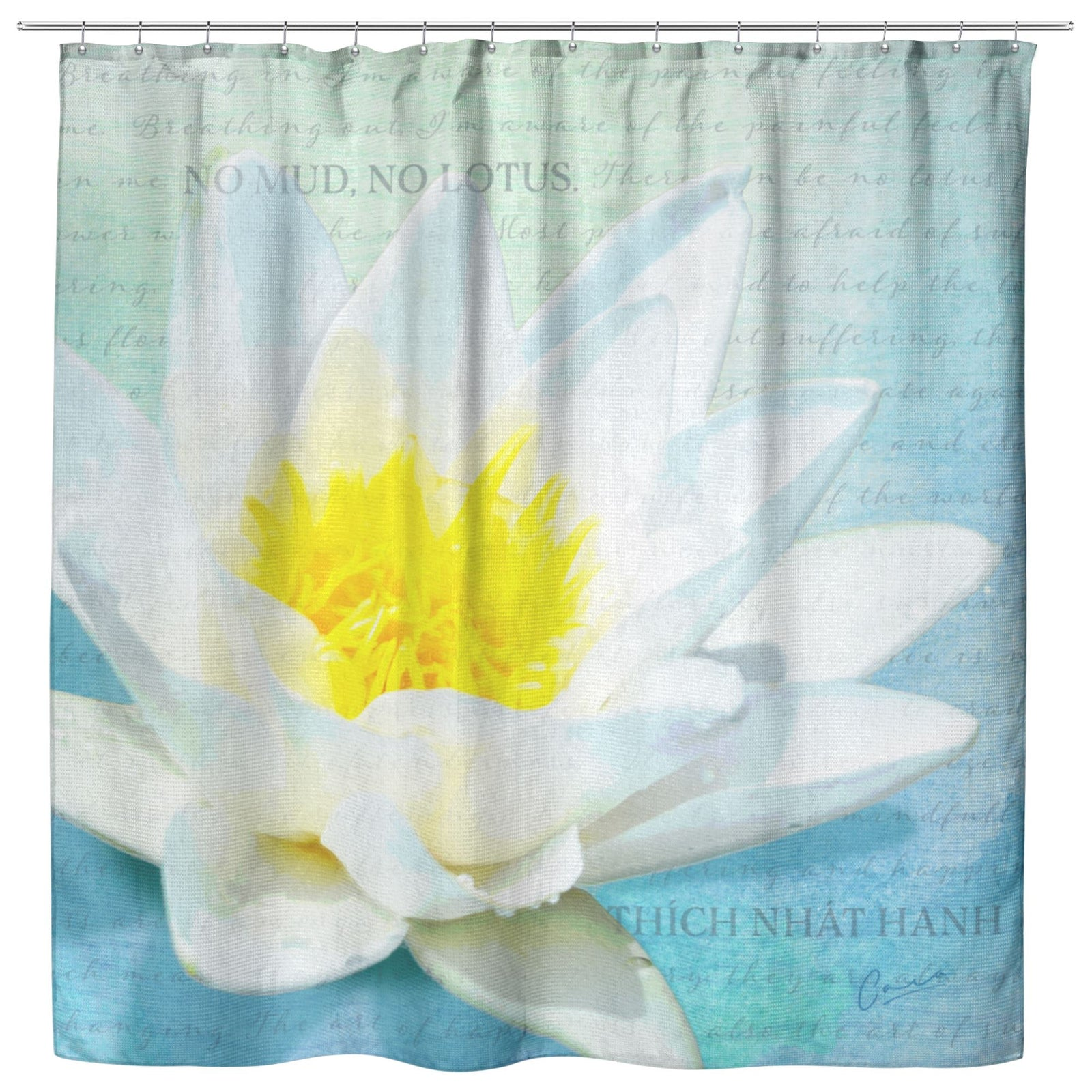 No Mud No Lotus Shower Curtain • Lotus Flower Bathroom Decor Shower Curtains teelaunch Shower Curtain