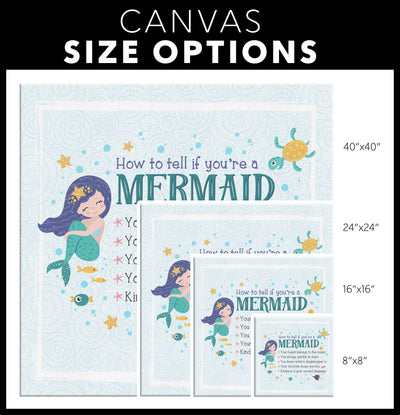 How To Tell If You're a Mermaid • Canvas Wall Art Canvas Wall Art 2 teelaunch