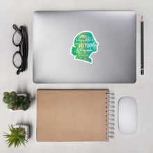 RBG Decisions Sticker • Green Silhouette Salmon Olive 4x4