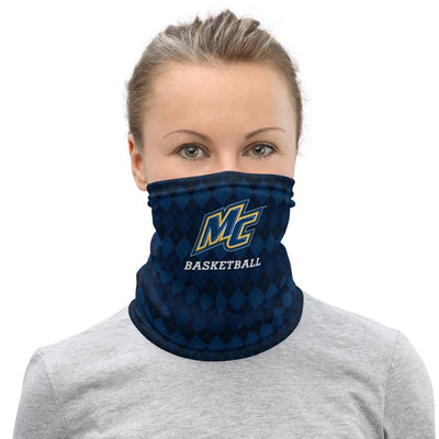 Merrimack College Basketball Neck Gaiter Salmon Olive