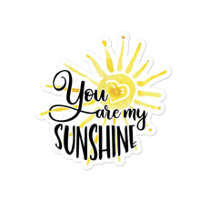 You Are My Sunshine Sticker Salmon Olive 4x4