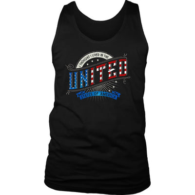 I Thought I Lived in the UNITED States of America • Men's T-shirts & Tanks T-shirt teelaunch District Mens Tank Black S
