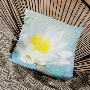 No Mud No Lotus Throw Pillow