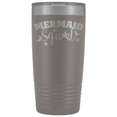 Mermaid Squad • 20oz Insulated Tumbler Tumblers teelaunch Pewter