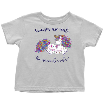 Unicorns Are Real • Baby & Kids Tees T-shirt teelaunch Toddler Tee White 2T
