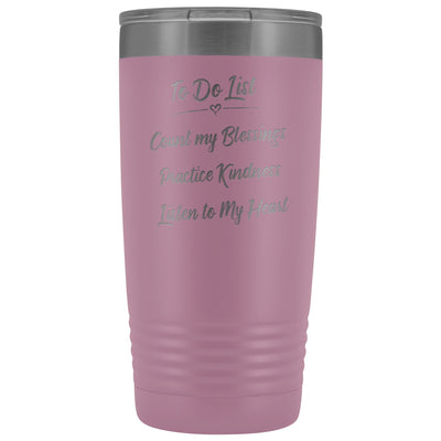 To Do List • 20oz Insulated Coffee Tumbler Tumblers teelaunch Light Purple
