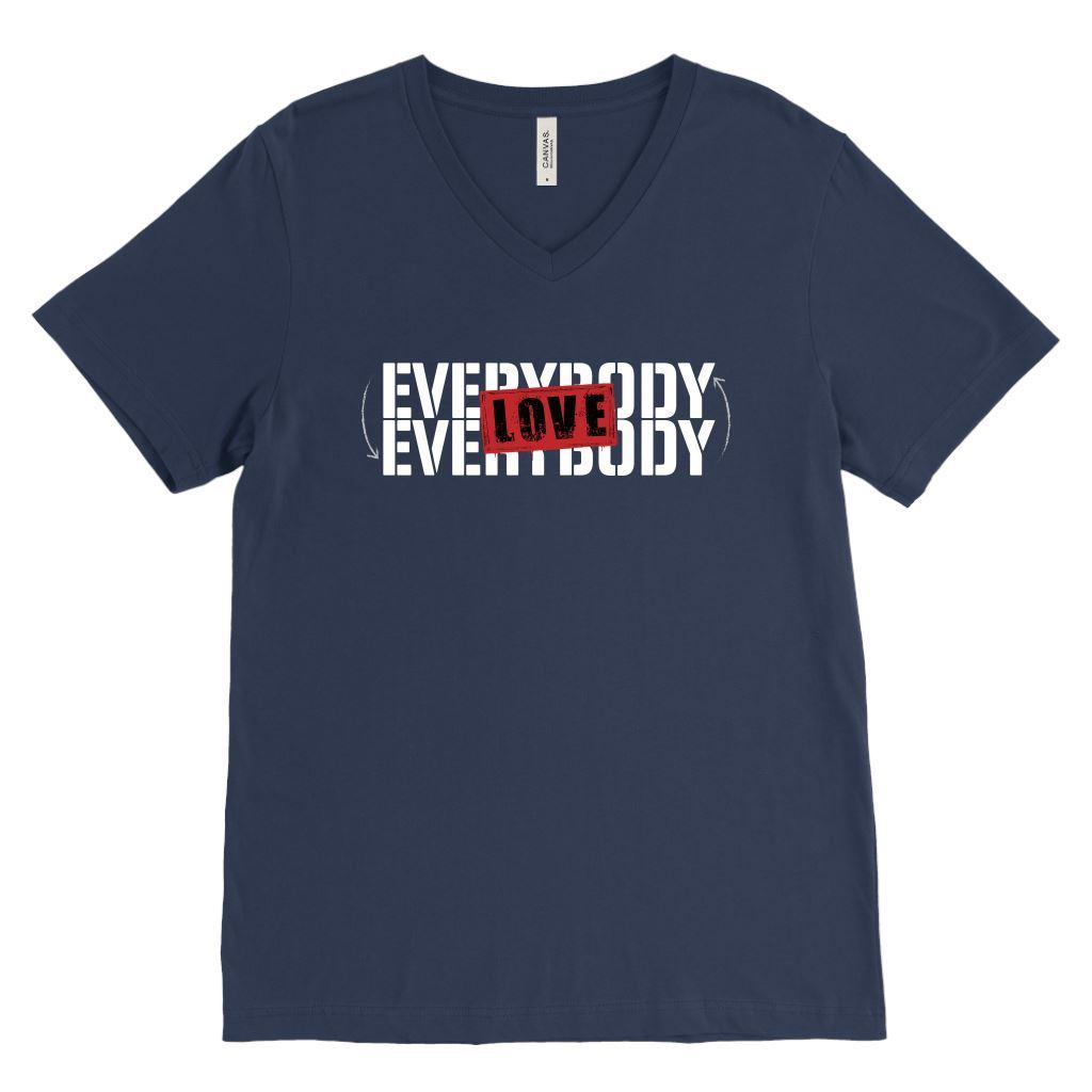 Love Everybody Unisex Tees & Tanks T-shirt teelaunch V-Neck Navy S
