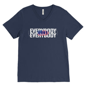 Love Everybody Patriotic Unisex Tees & Tanks T-shirt teelaunch V-Neck Navy S
