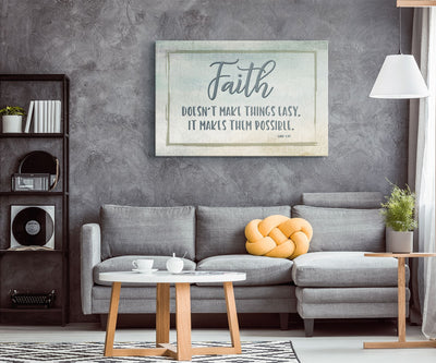 Faith Makes Things Possible • Wall Art Canvas Wall Art 2 teelaunch