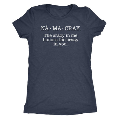 Na•Ma•Cray • Women's DriFit Athletic Tee T-shirt teelaunch Vintage Navy M