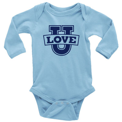 Love U • Babies & Kids Tees T-shirt teelaunch Long Sleeve Onsie Light Blue NB