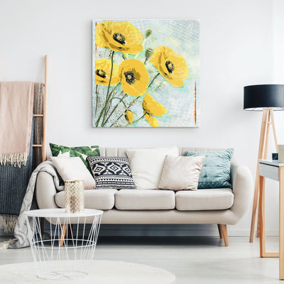 Divine Creation: Yellow Poppies Canvas Wall Art Canvas Wall Art 2 teelaunch 8 x 8