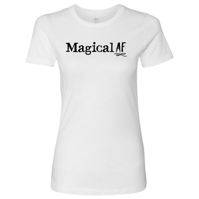 Magical AF • Women's Tees T-shirt teelaunch Cotton Tee White S