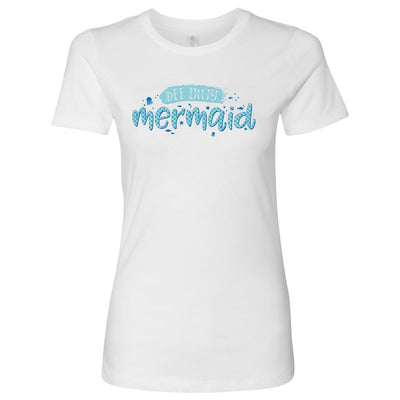 Off Duty Mermaid • Women's Tees T-shirt teelaunch Cotton Tee White S