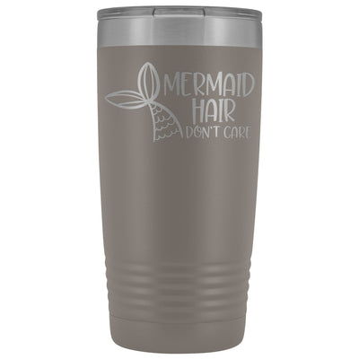 Mermaid Hair, Don't Care • 20oz. Insulated Tumbler Tumblers teelaunch Pewter