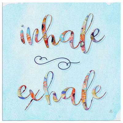 INHALE EXHALE Wall Canvas Canvas Wall Art 2 teelaunch 16 x 16