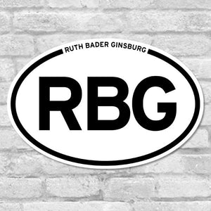 Ruth Bader Ginsburg Oval Bumper Sticker