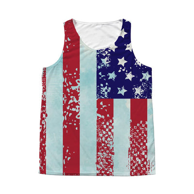 Stars & Stripes Tank Top • Men's Tank Top All Over Print teelaunch American Flag M