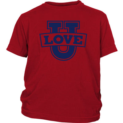 Love U • Babies & Kids Tees T-shirt teelaunch Youth Tee Red XS