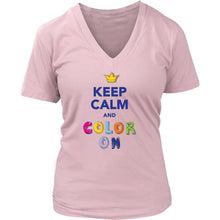 Keep Calm and Color On T-Shirts and Tank Tops