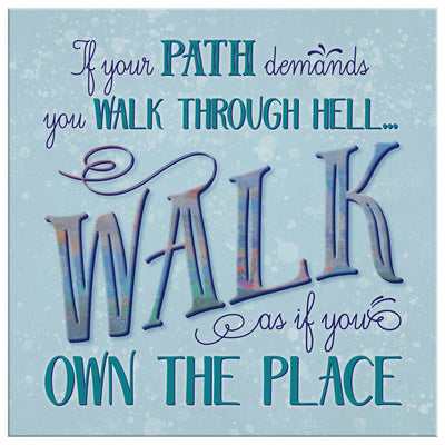 Walk Through Hell • Wall Canvas Canvas Wall Art 2 teelaunch 8 x 8