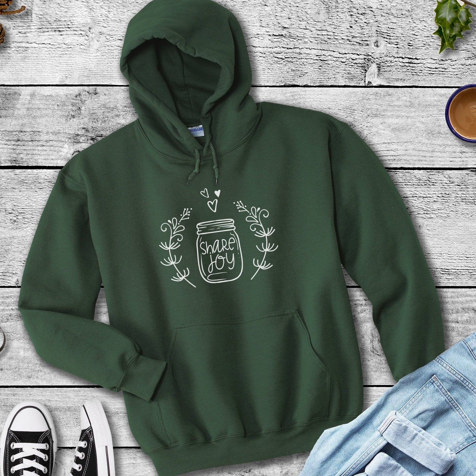 Share Joy This Christmas • Cottagecore Aesthetic Cozy Hoodies & Tees T-shirt teelaunch