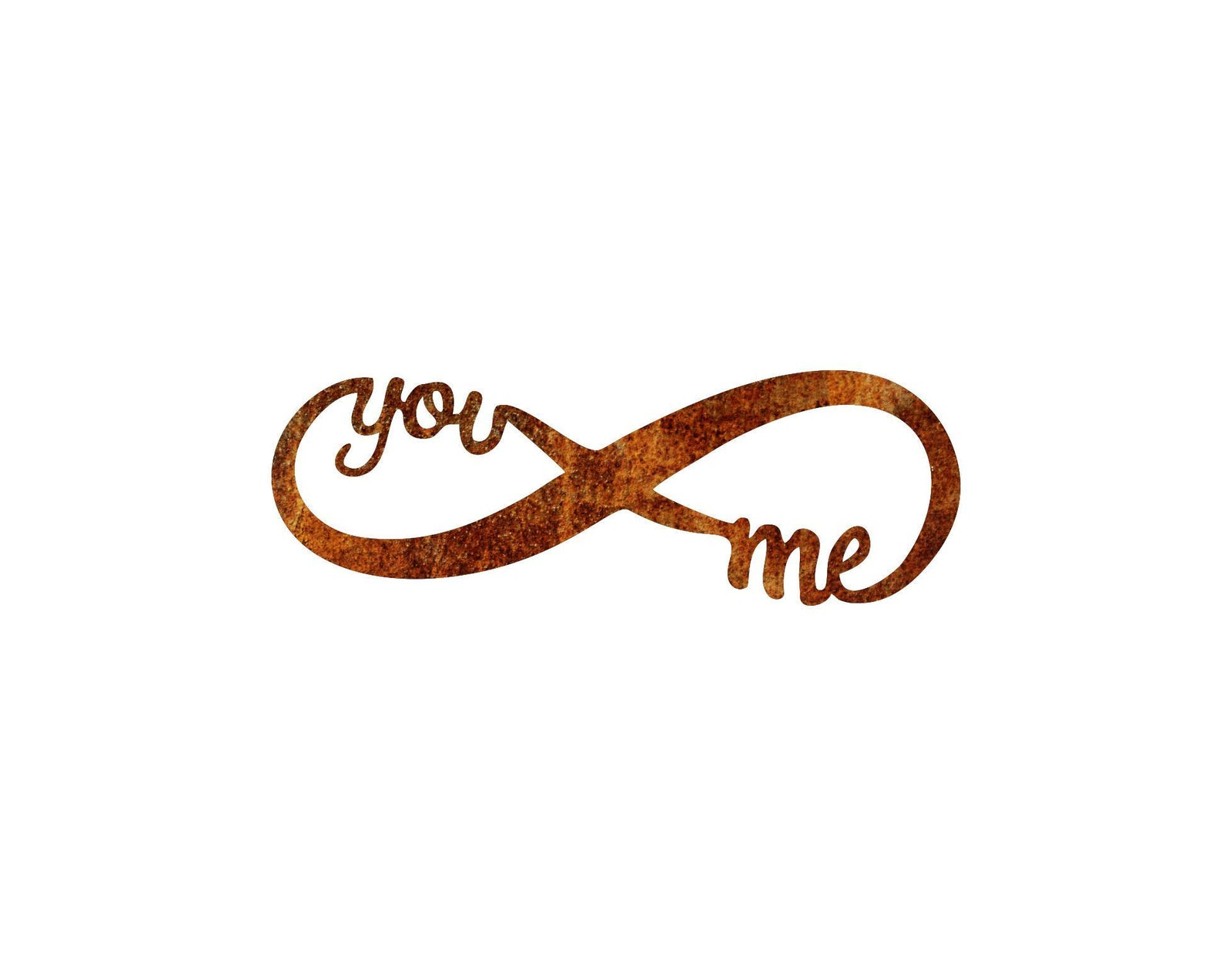 You and Me Forever Infinity Metal Art Sign