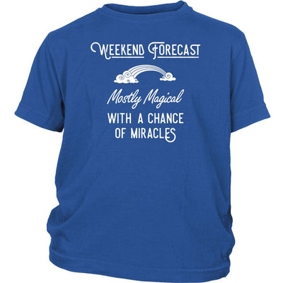 Weekend Forecast: Mostly Magical with a Chance of Miracles • Kid's T-shirt T-shirt teelaunch Royal Blue XS