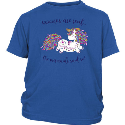 Unicorns Are Real • Baby & Kids Tees T-shirt teelaunch Youth Tee Royal Blue XS