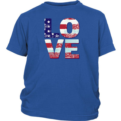 Patriotic Love • Youth T-shirts T-shirt teelaunch Royal Blue XS