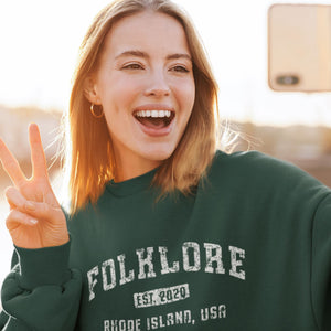Folklore Sweatshirt • Taylor Swift Merch Crewneck Sweatshirt Sweatshirts CustomCat Forest Green S