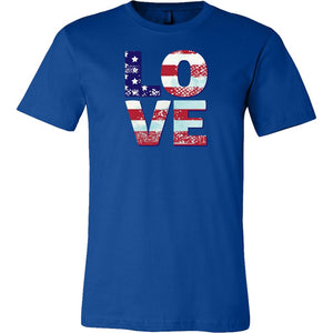 Patriotic Love Men's T-shirts