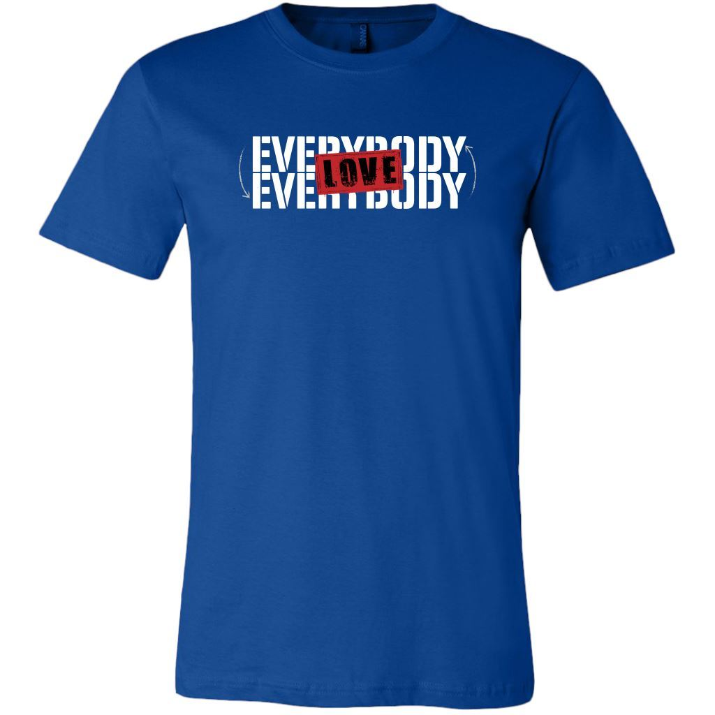 Love Everybody Unisex Tees & Tanks T-shirt teelaunch Crew Neck Royal S