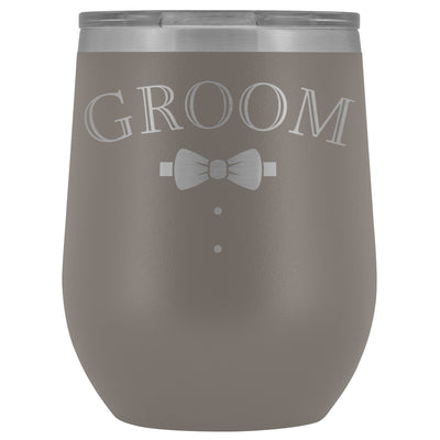 For The Groom • Engraved 12oz. Wine Tumbler Wine Tumbler teelaunch Pewter