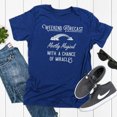Weekend Forecast: Mostly Magical with a Chance of Miracles • Men's T-shirt