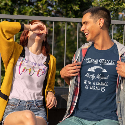 Weekend Forecast: Mostly Magical with a Chance of Miracles • Men's T-shirt T-shirt teelaunch