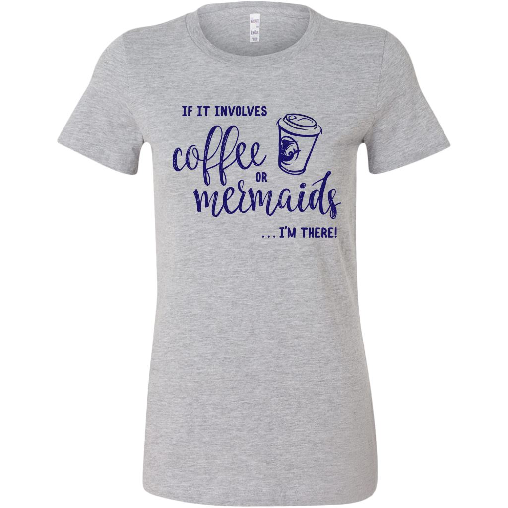 Coffee or Mermaids Women's Bright Tees