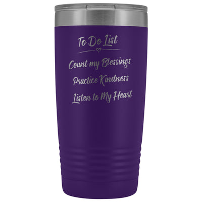 To Do List • 20oz Insulated Coffee Tumbler Tumblers teelaunch Purple