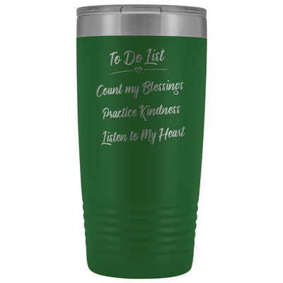 To Do List • 20oz Insulated Coffee Tumbler Tumblers teelaunch Green