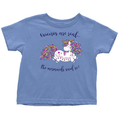 Unicorns Are Real • Baby & Kids Tees T-shirt teelaunch Toddler Tee Baby Blue 2T