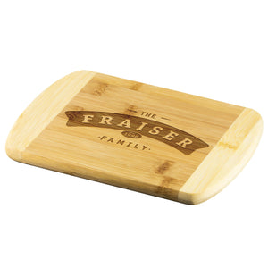 Family Name Cutting Board • Customizable with Family Name Wood Cutting Boards teelaunch