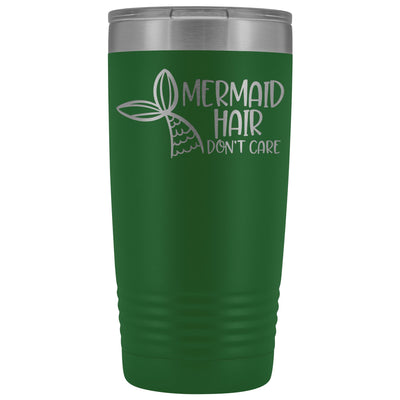 Mermaid Hair, Don't Care • 20oz. Insulated Tumbler Tumblers teelaunch Green