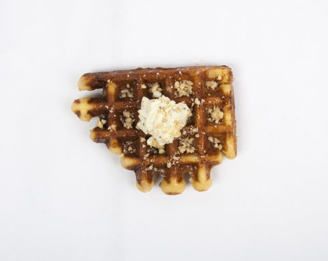 Goat Cheese & Hazelnut Mini Waffles
