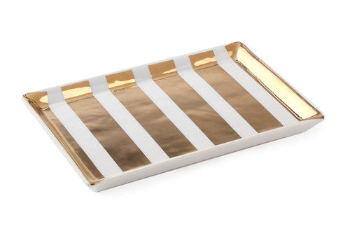 Gold Striped Dish