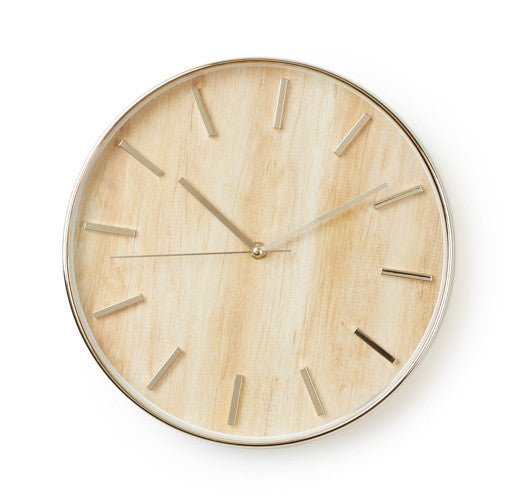 Wood Grain Wall Clock