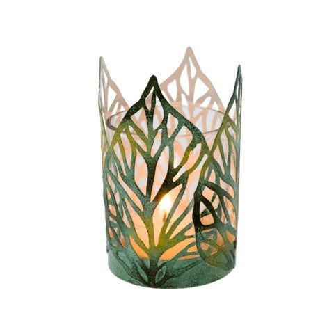 Green Spring Leaf Votive